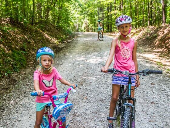 Columbia clothes for biking with kids
