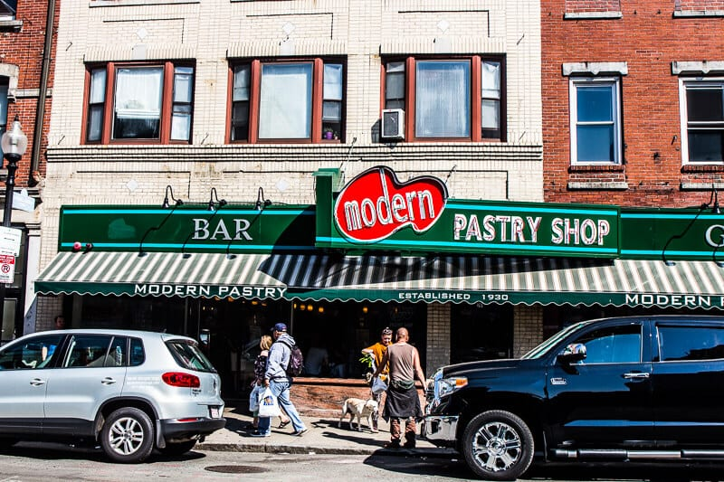 Indulge in Italian coffee and Cannoli at Modern Pastry, North End