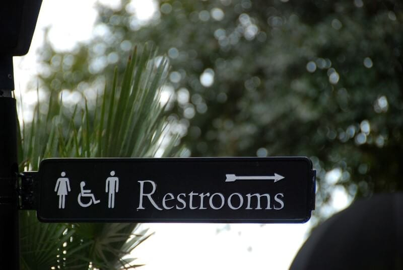 using public restrooms in the usa