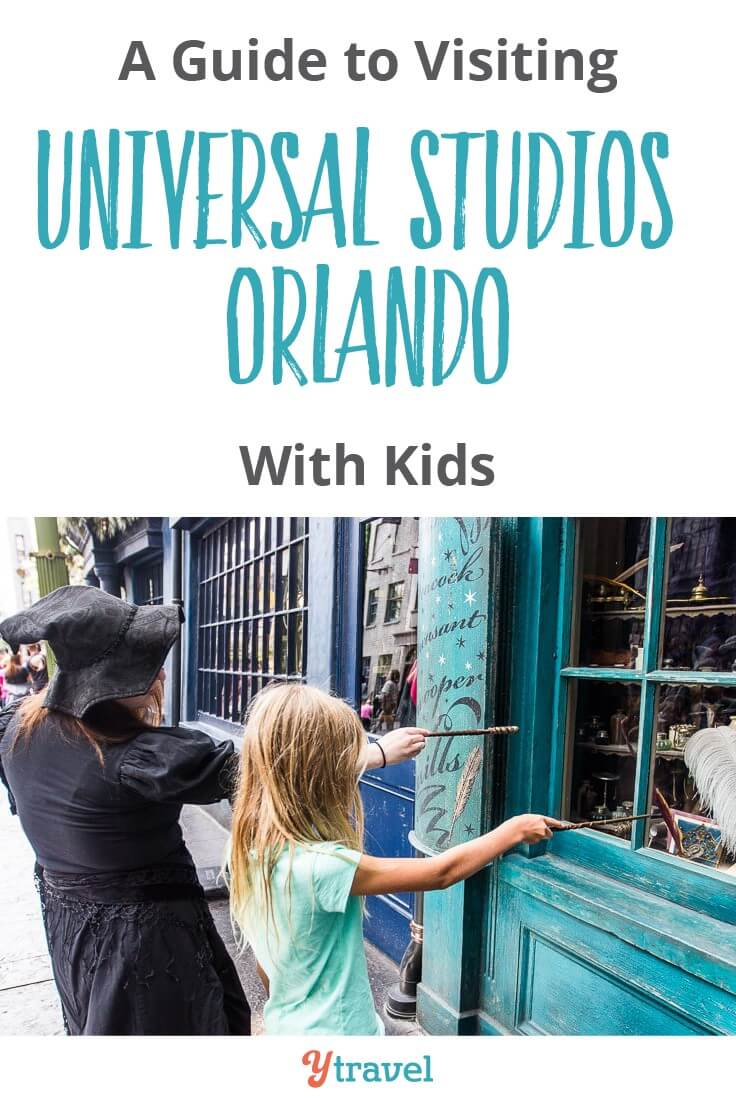 A guide to visiting Universal Studios Orlando with kids! It's one of the three theme parks in Universal Orlando Resort. The best part being Diagon Alley in the Wizarding World of Harry Potter and Rip Ride Rockit. Come check out our tips