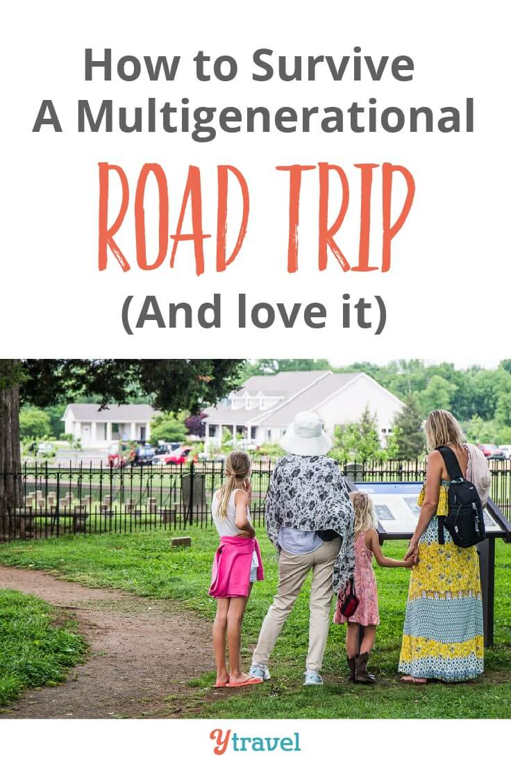 10 Road Trip Tips - How to survive a multigenerational family road trip. Ever thought of taking a road trip with the kids and grandparents? A family vacation can be a lot of fun if you plan and prepare for it right. Click inside for important travel tips!