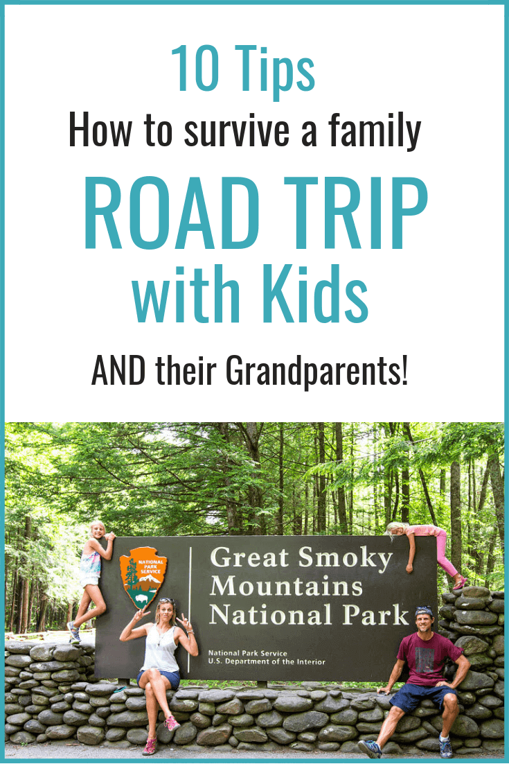 10 Tips for a Road Trip with Kids - How to survive a multigenerational family road trip with kids and their Grandparents. A family vacation can be a lot of fun if you plan and prepare for it right. Click inside for important travel tips!