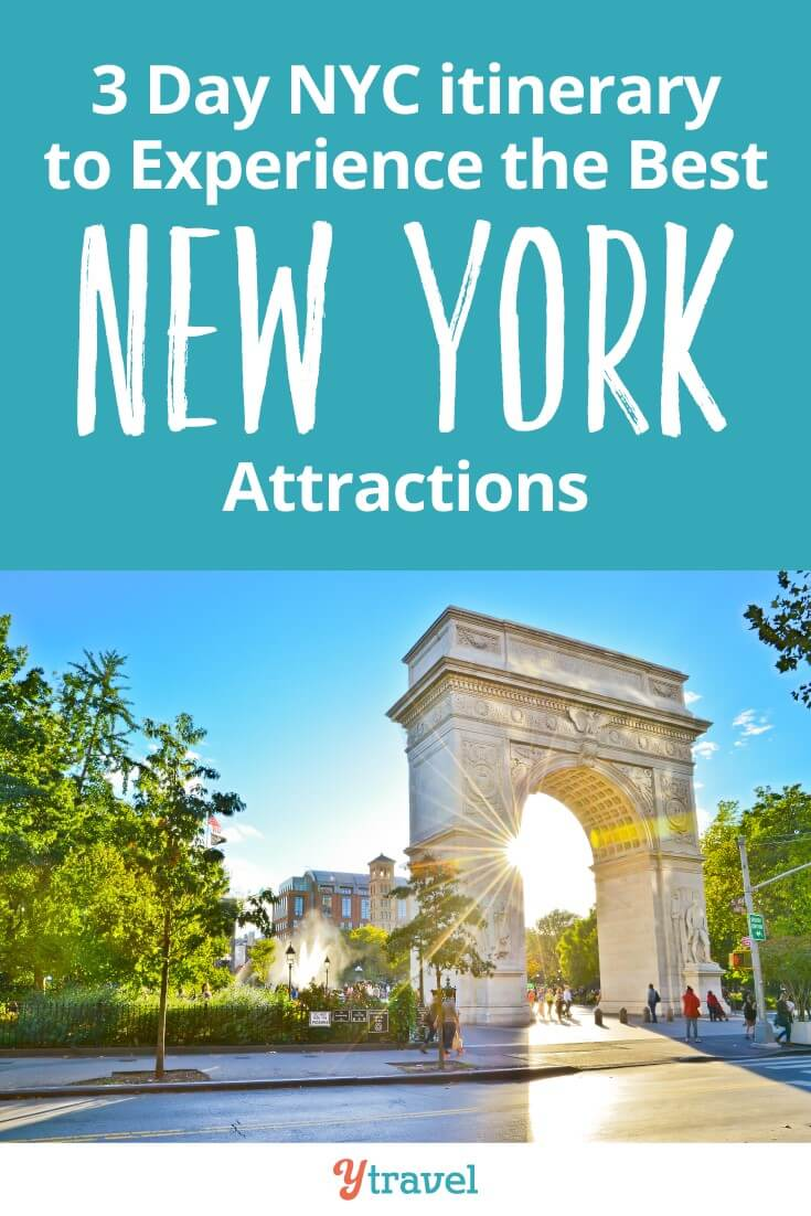 Things to do in NYC in 3 days. Do you want to see the best New York attractions like the Statue of Liberty, Central Park, Top of the Rock and The Empire State building? We make it easy for you with this three day itinerary that helps you save time and money on your NYC trip!