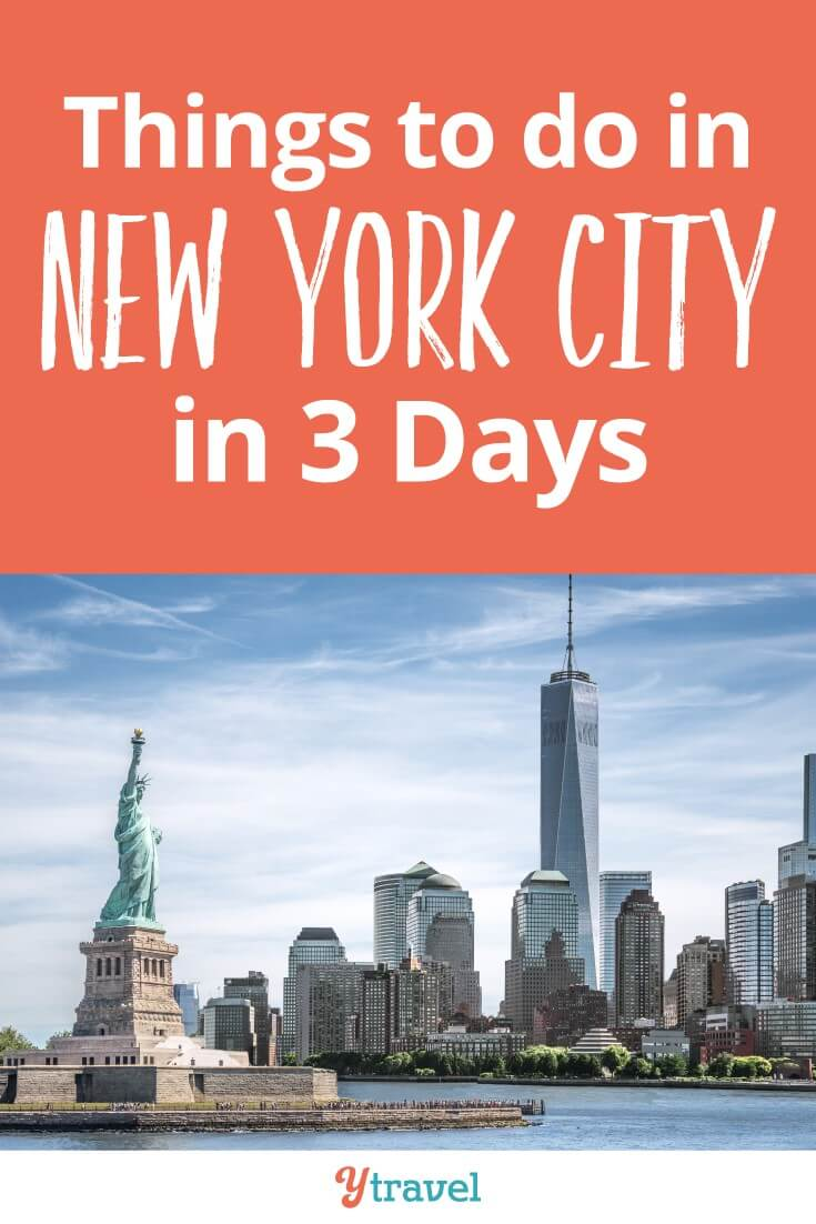 Things to do in NYC in 3 days. Do you want to see the best New York attractions like the Statue of Liberty, Central Park, Top of the Rick and Empire State building? We make it easy for you with this three day itinerary that helps you save time and money on your NYC trip!