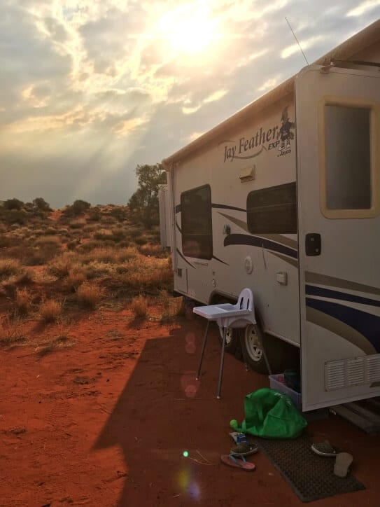 Camping at Uluru in Outback Australia. See inside for for tips.