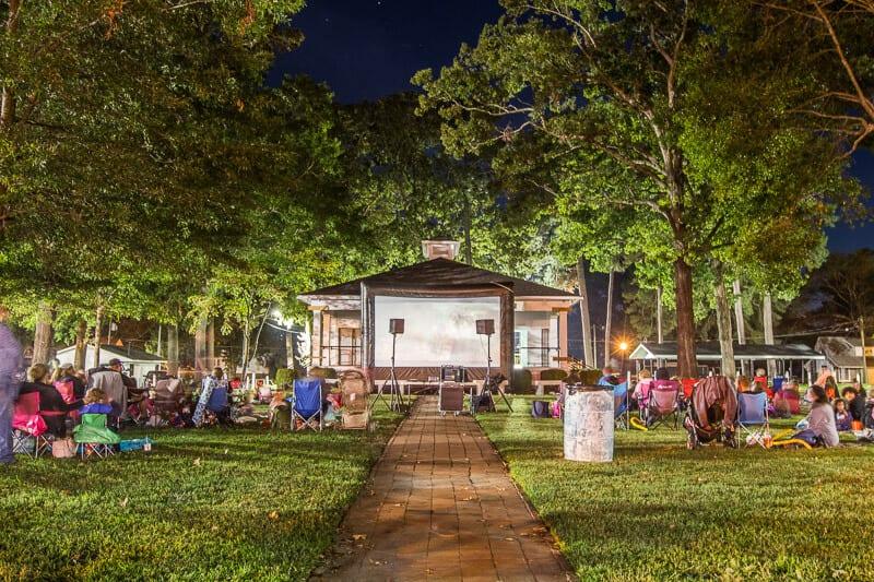 Movie night in Benson, NC