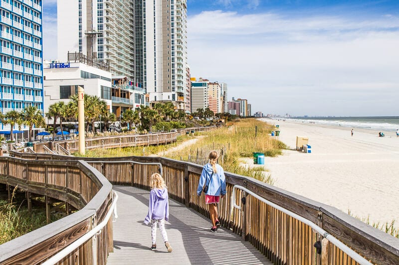 kid friendly things to do in Myrtle Beach Boardwalk