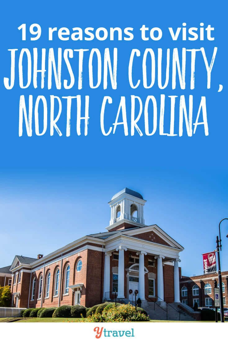 Johnston County in North Carolina is one of the biggest counties in NC, and the next county south of Raleigh. Here are 19 reasons to visit Johnston County when you visit North Carolina on your East Coast Road Trip.