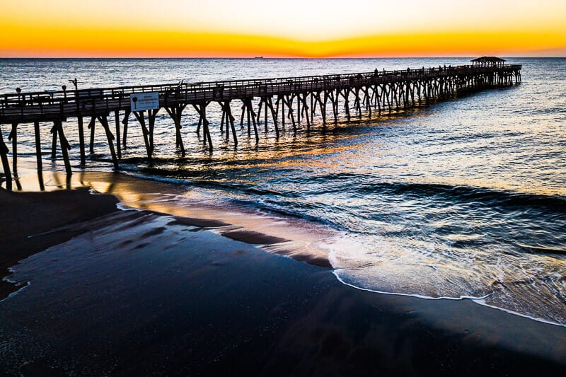 Sunrise at Myrtle Beach State park, South Carolina