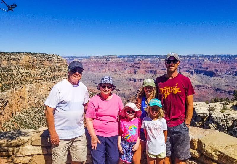 fun with the family in the Grand Canyon
