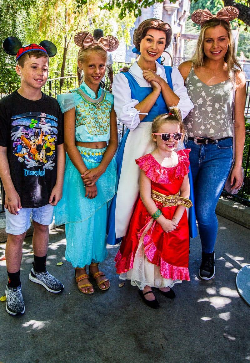 Belle meeting princess Disneyland Anaheim
