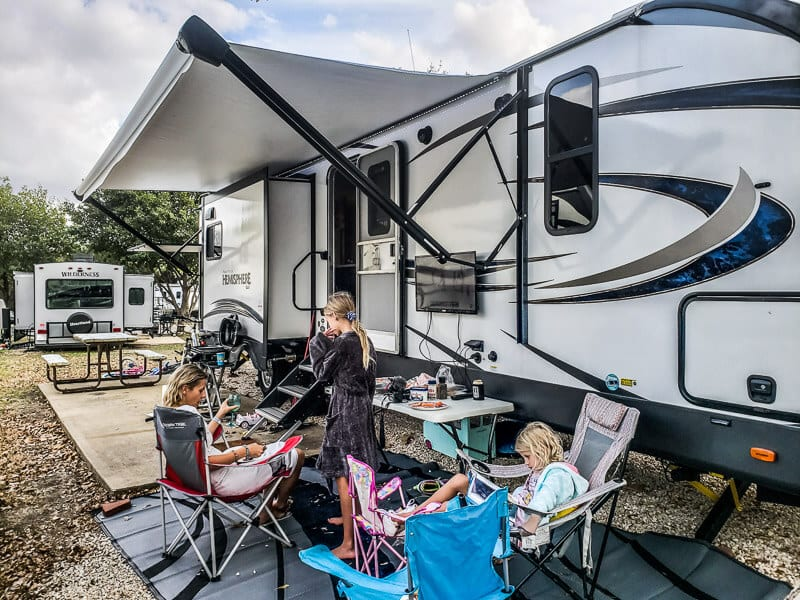RV camping Hill Country Texas
