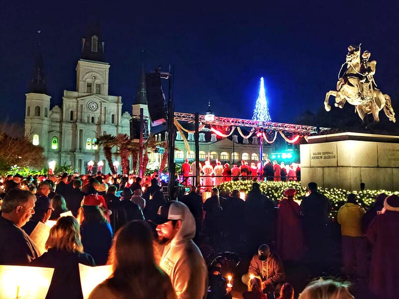 Carols in Jackson square New Orleans