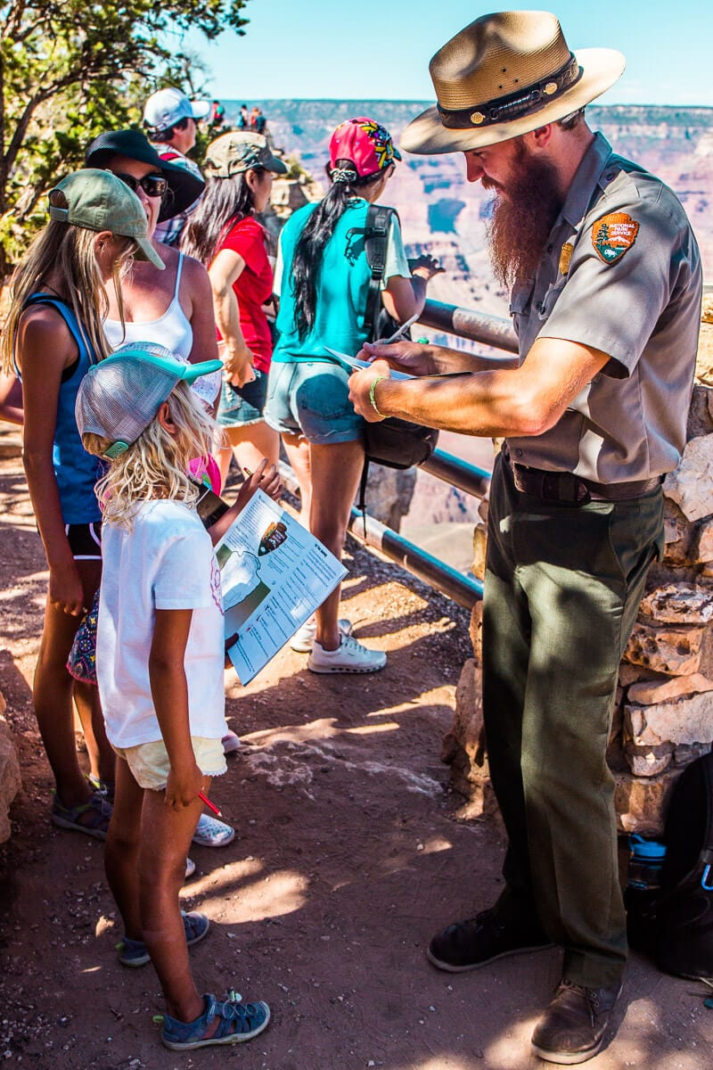 Programme des Rangers juniors dans le parc national du Grand Canyon