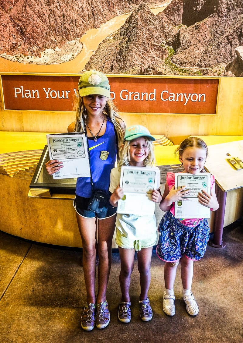 Junior Rangers at Grand Canyon National Park