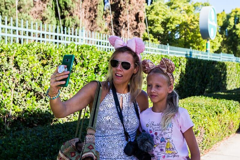 oreilles de souris dans le centre-ville de Disneyland