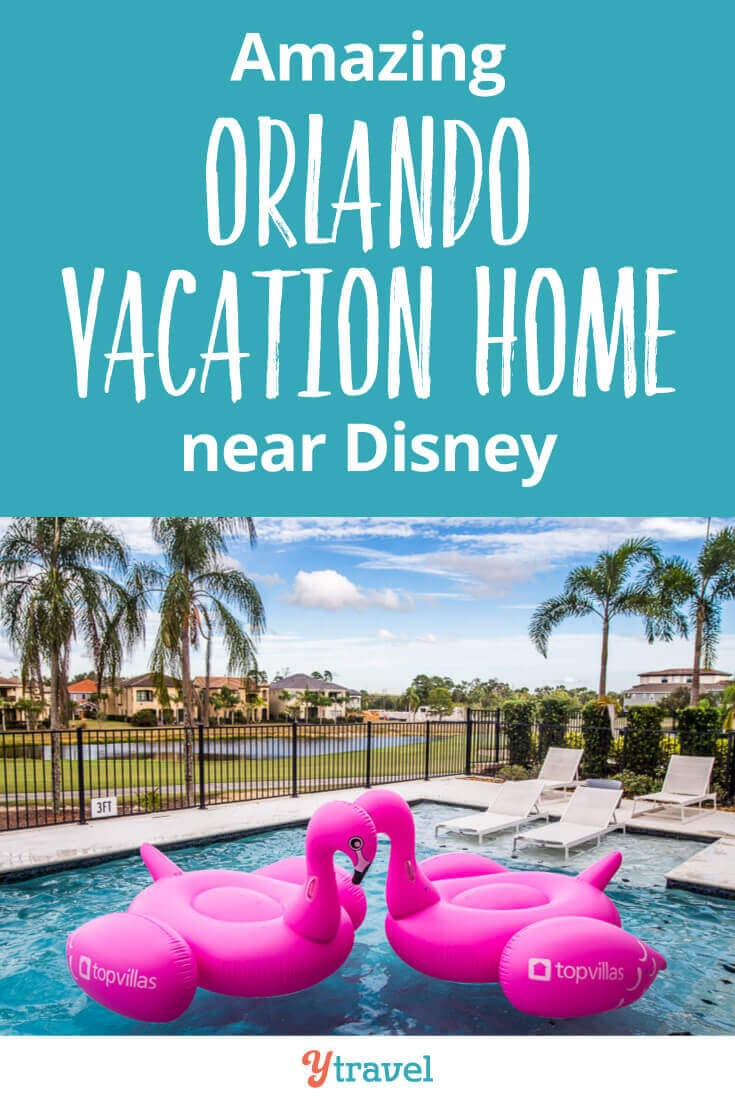 Check out this stunning Orlando Vacation home near Disney World? This 8,000 sq ft home has a private pool and hot tub, 10 bedrooms (all with ensuites), a games room, cinema room, fully equipped kitchen and much more! This vacation rental in Orlando is perfect for large groups and family reunions! See inside for all the details!