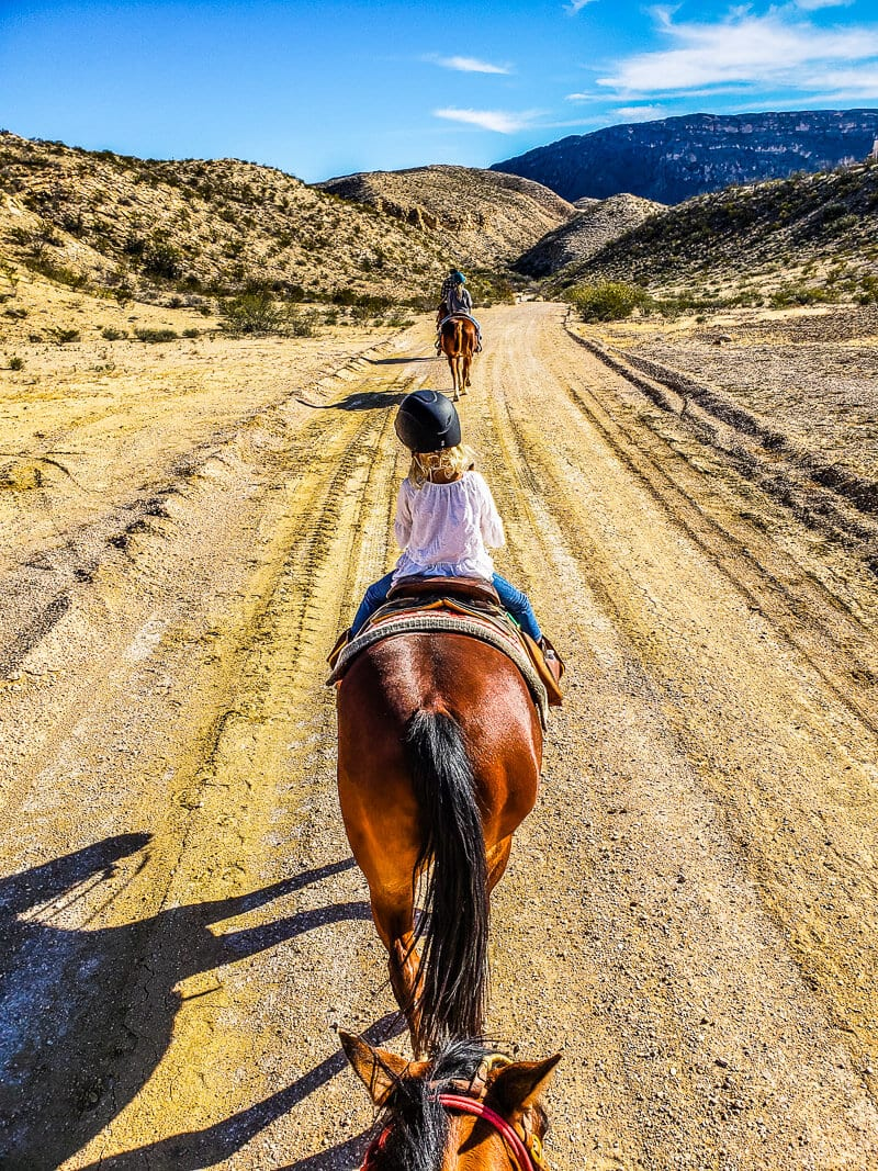 Horse riding in Lajitas, Texas, near Big Bend National Park