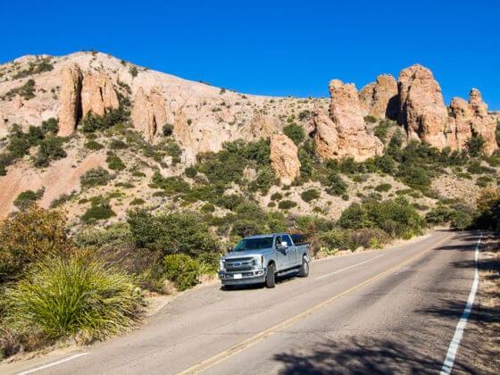 Chisos Basin Drive Big Bend Natinal Park Texas (2)