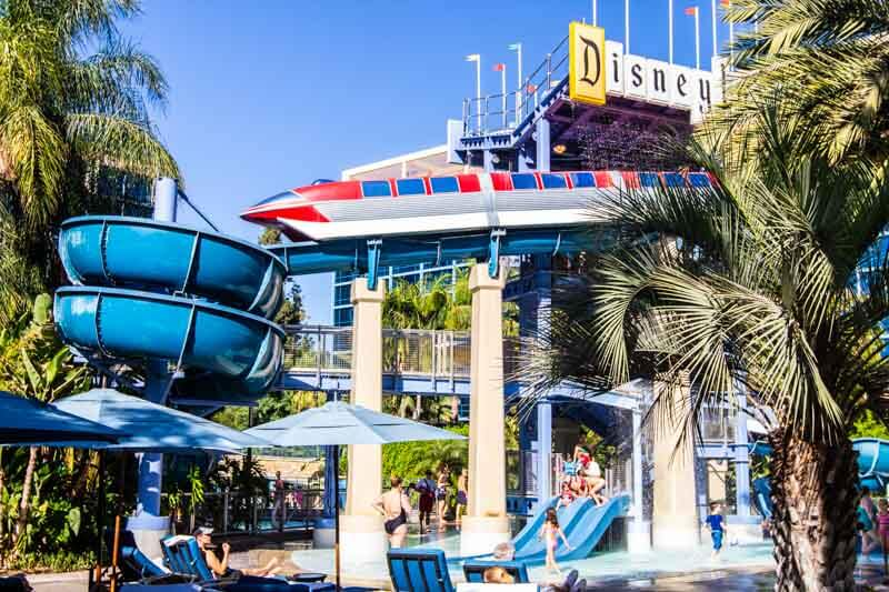 Disneyland Hotel waterslides