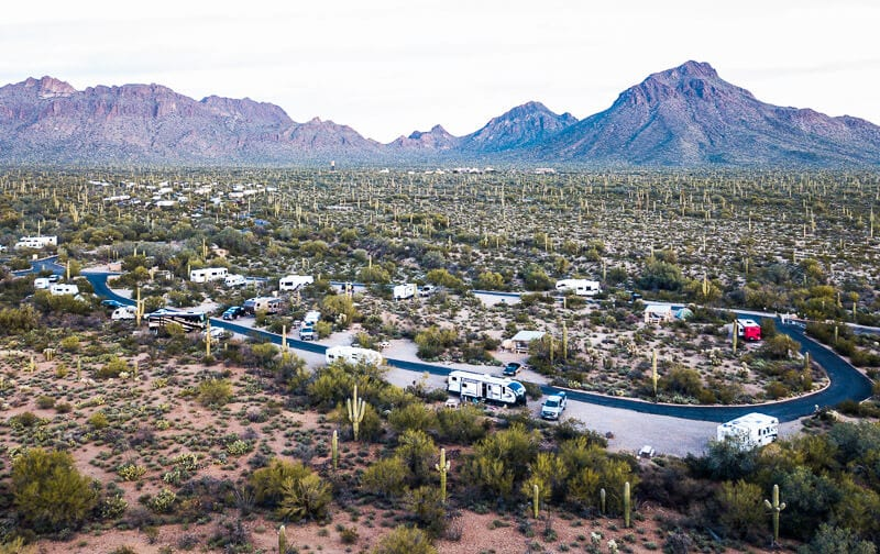 Gilbert Ray campground Tucson Mountains