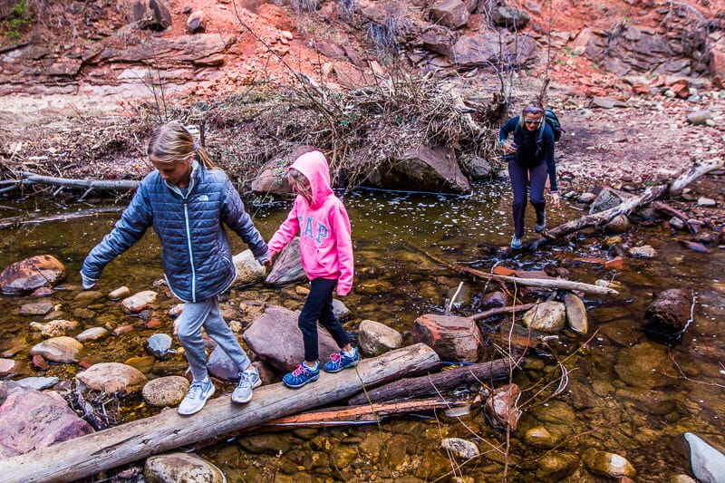West Fork Trail, Sedona with kids