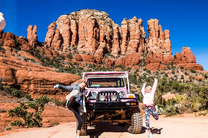 Pink Jeep Tour in Sedona with kids