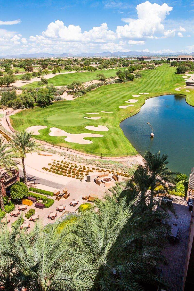Beautiful golf course at the Westin Kierland Resort in Scottsdale, Arizona