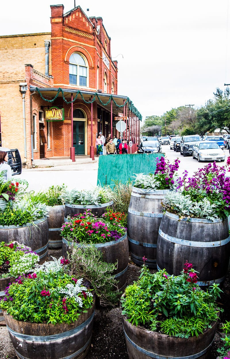 The cute town of Gruene in Texas Hill Country