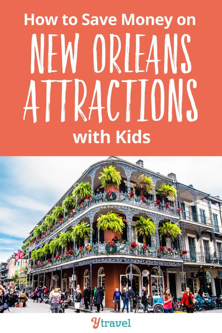 How to save money on New Orleans attractions with kids. There are loads of cool things to do in New Orleans with kids like Mardi Gras World, Swamp Tour, Jazz cruise and plantation tours. Here is how you can save money using the New Orleans Sightseeing Pass.