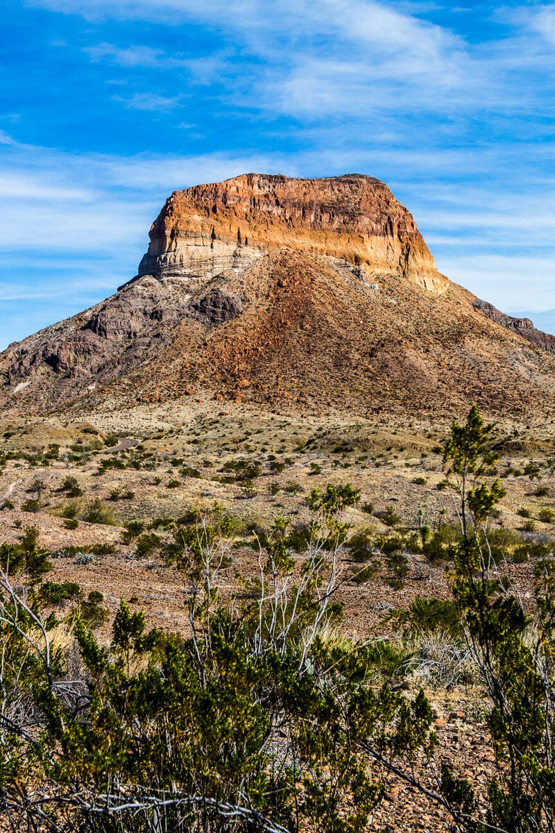 Stunning scenery along the Ross Maxwell Drive in Big Bend National Park