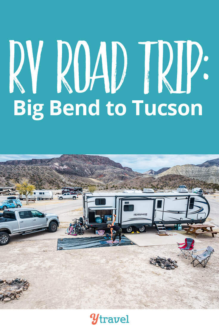 Week 6 of our 1 year RV USA road trip update blog post is here. Get all our tips, lessons and travel costs from the road from Big Bend National Park in Texas to Tucson, Arizona! We love this RV travel life!