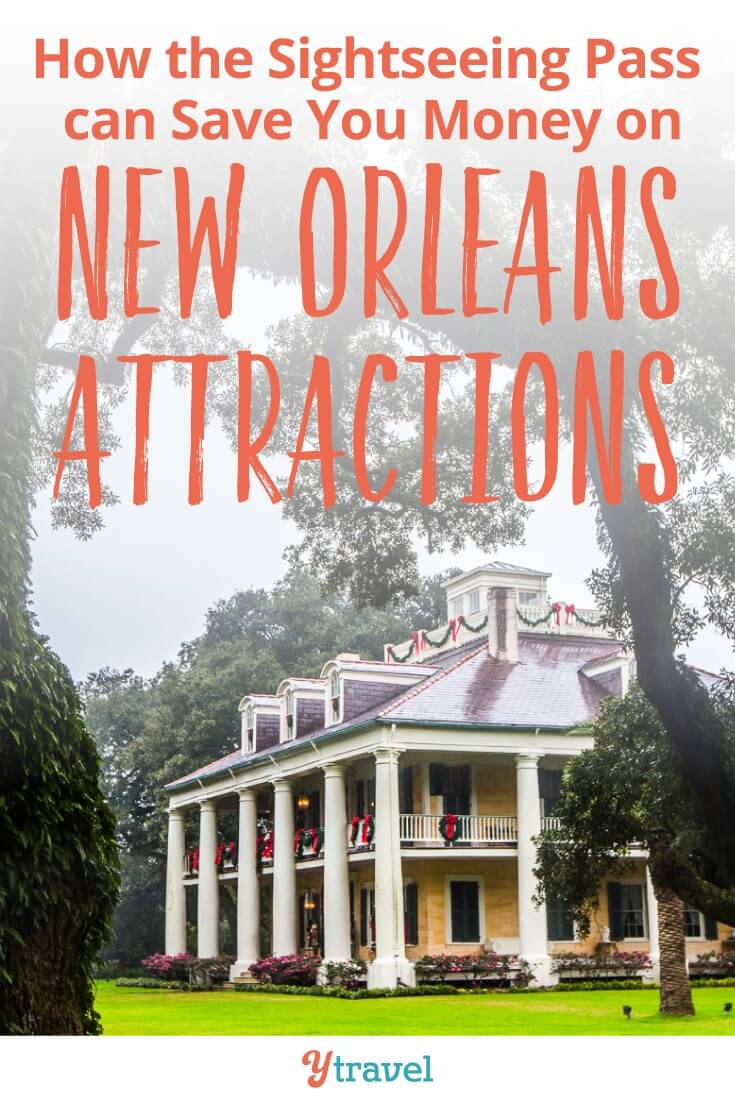 The New Orleans Sightseeing Pass will save you money on New Orleans attractions. There are so many cool things to do in New Orleans with kids. This pass will save you money on places like World War II Museum, swamp tour, plantation homes, hop on hop off bus, walking tours and more. Check it out.