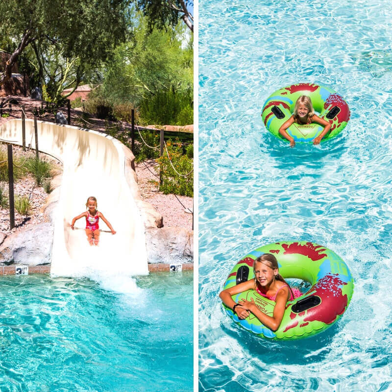Awesome water slide and lazy river at the Westin Kierland Resort in Scottsdale