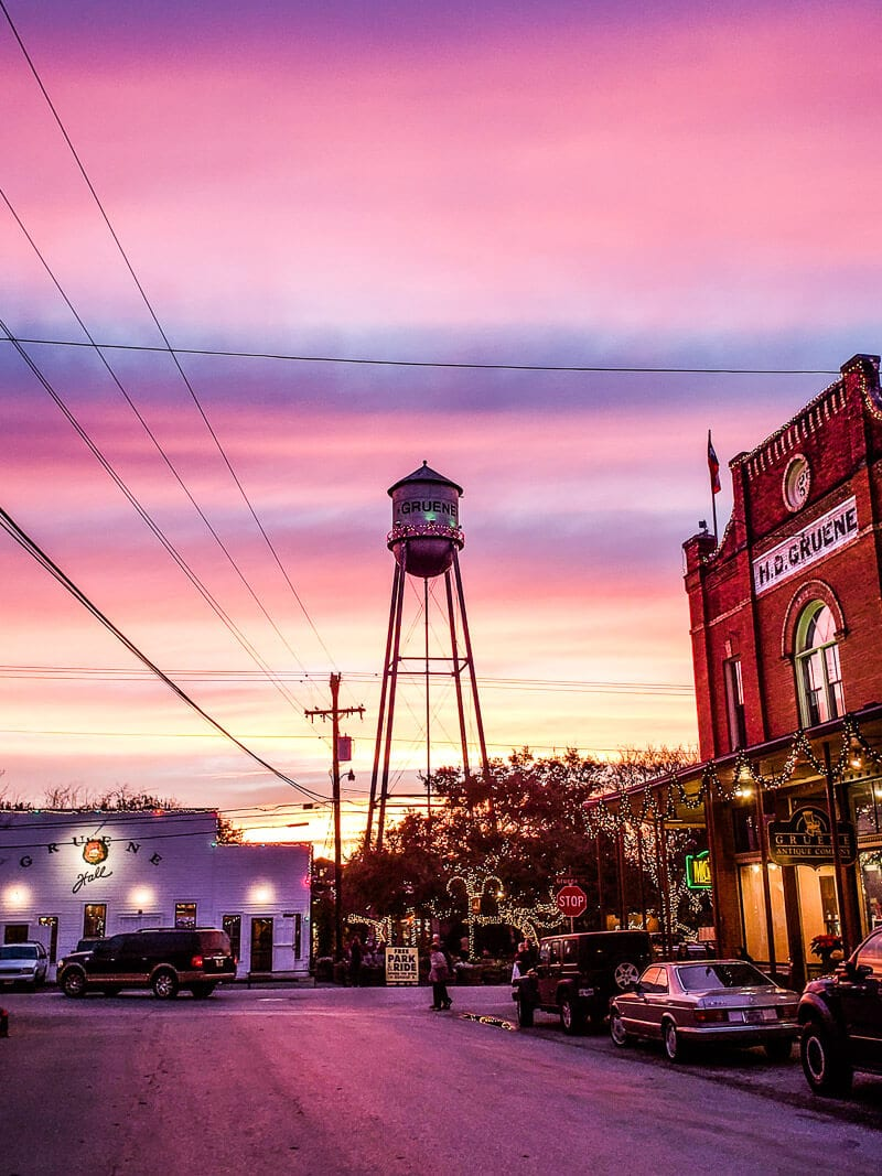 Sunset in Gruene, Texas Hill Country