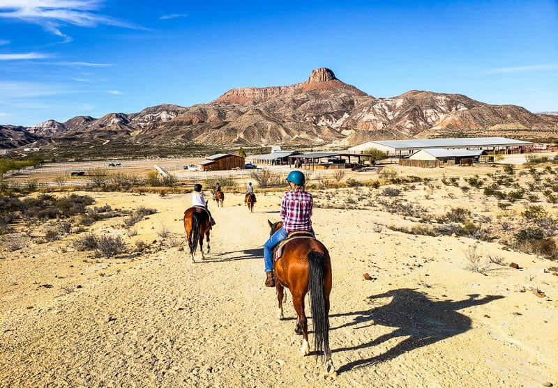 Horseback riding in Lajitas, Texas