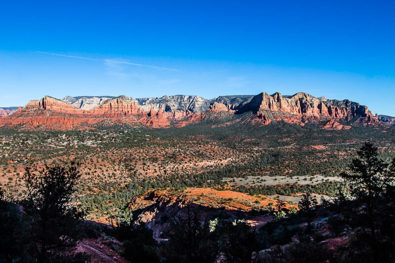 Sedona Arizona view from Cathedral rock saddle