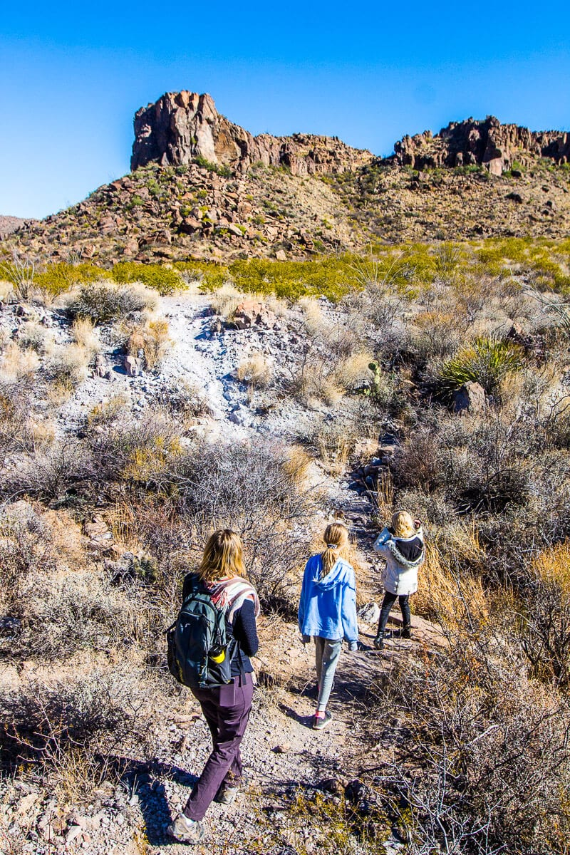 Ojito Andentro hike in Big Bend State Park, Texas