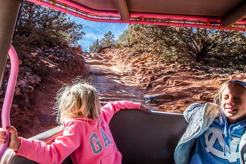 devil's staircase sedona pink jeep