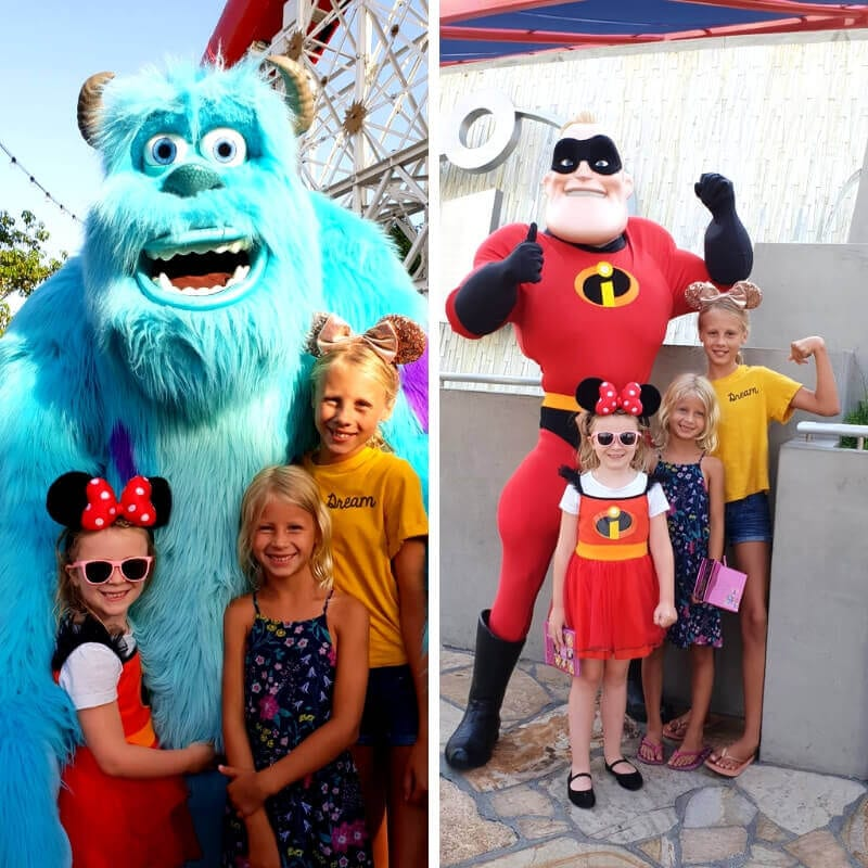 Characters at Disney California Adventure Park