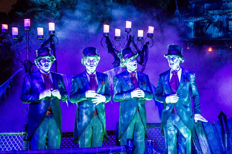 Cadaver Dan's Singing Quartet at Disneyland Halloween Party