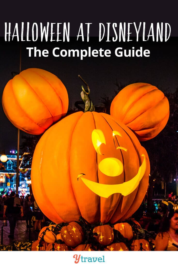 The complete guide to Disneyland Halloween Party - Tips for trick or treating, costume ideas, food to eat, shows to watch, getting tickets, and much more! See inside for top tips about Mickey's Halloween Party at Disneyland Resort California.