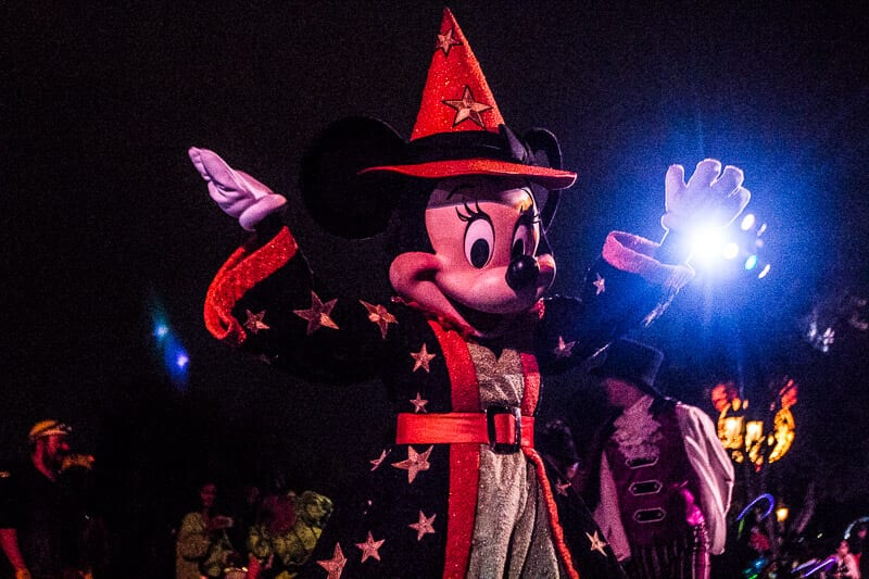 Mickey Mouse during the Frightfully Fun Halloween Parade