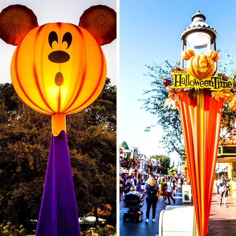 Disneyland Halloween decorations for Mickey's not so scary Halloween party