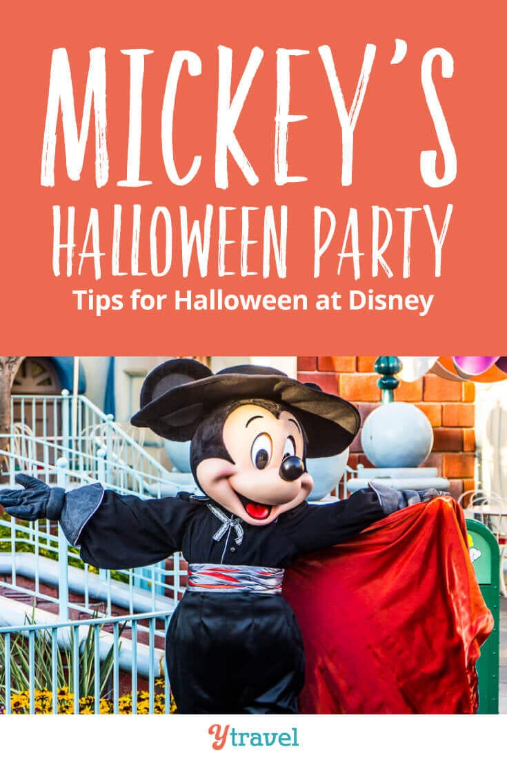 The complete guide to Mickey's Halloween Party - Tips for trick or treating, costume ideas, food to eat, shows to watch, getting tickets, and much more! See inside for top tips about the Disneyland Halloween Party at Disneyland Resort California.