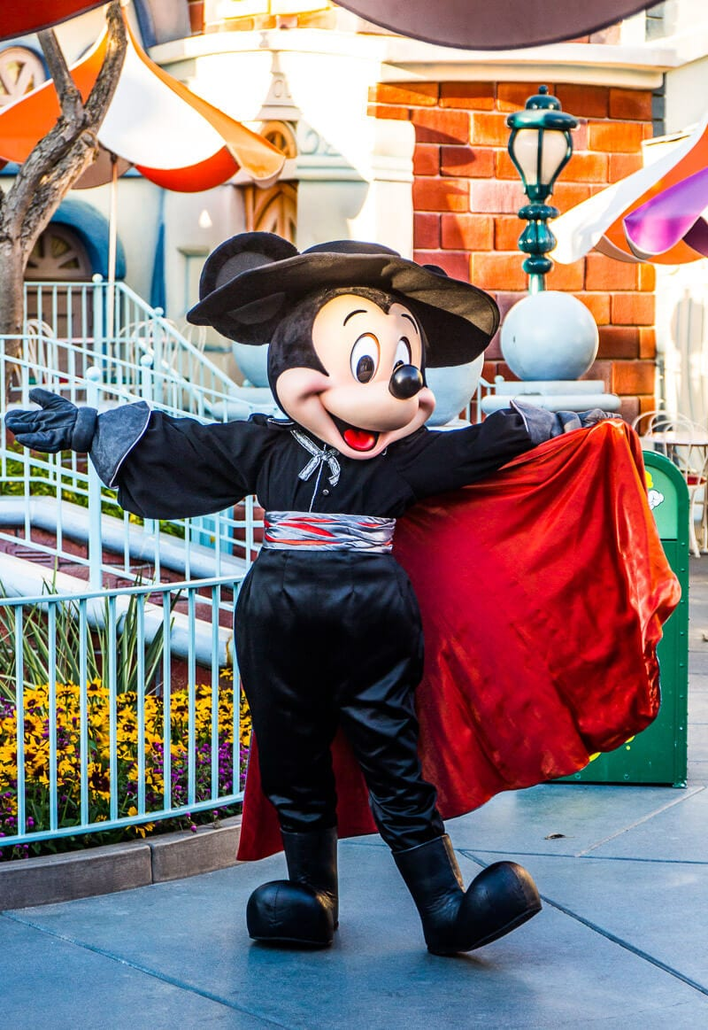 Mickey Mouse at the Disneyland Halloween Party in Anaheim, California