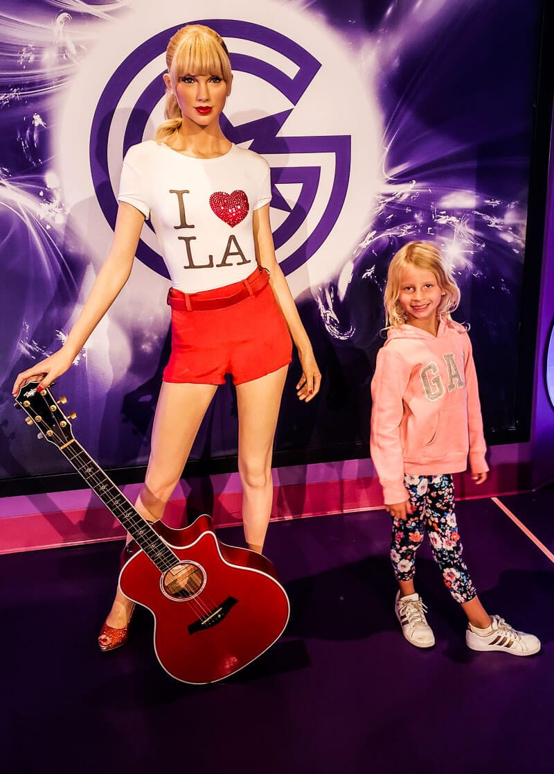 Taylor Swift at Madame Tussauds Hollywood - family things to do in la