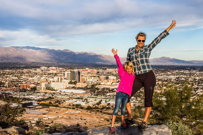 Climb up A-Mountain to overlook Downtown Tucson