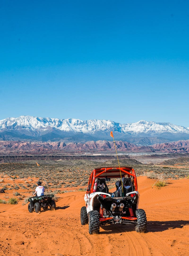 ATV tour of Sand Hollow State Park, Utah