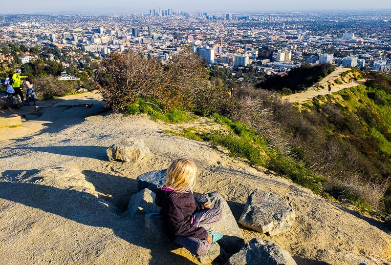 Runyon Canyon overlooking Downtown LA